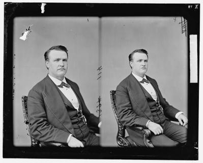 Hon. Stephen B Elkins of W. Va. Courtesy of the Library of Congress.