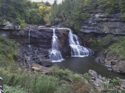 The falls at Blackwater Falls State Park.