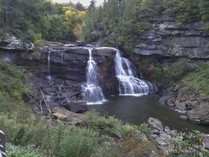 The falls at Blackwater Falls State Park.