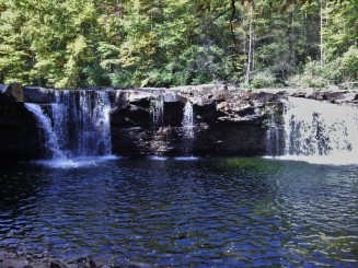 The High Falls of the Cheat, which are only accessible by hiking or on a Durbin and Greenbrier Valley Railroad train ride.